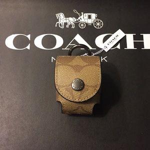(UNISEX) COACH - EARBUD CASE BAG CHARM (NWT)